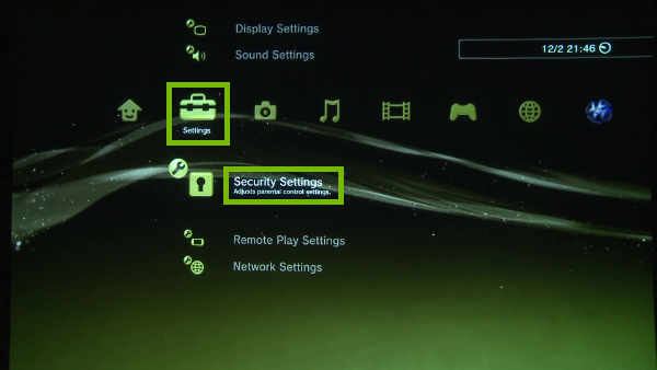 Settings and Security Settings