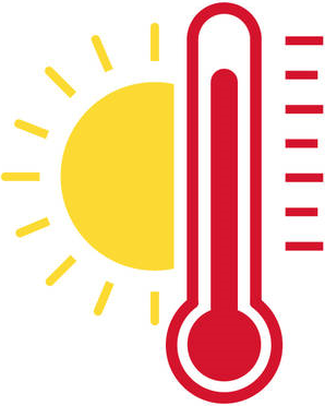 Hot temperature clip art