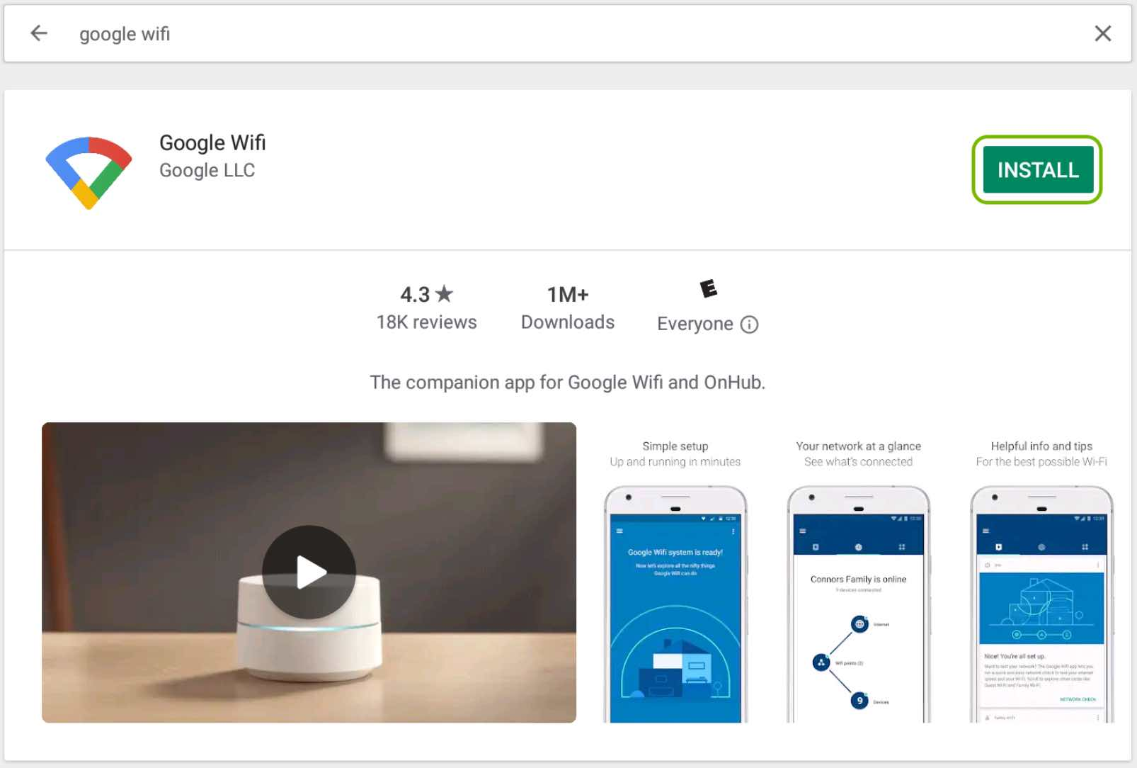 Install Eero Pro App from Google Play