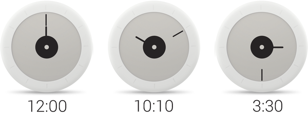 Withings Go showing time.