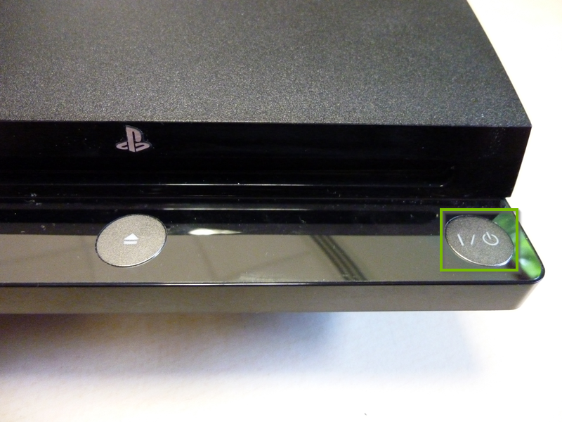 PS3 front power button.