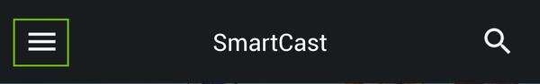 Smartcast menu.