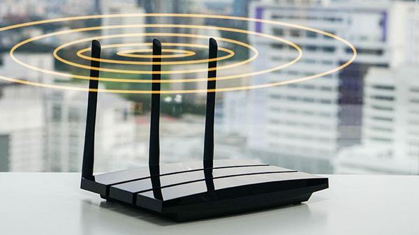 Router emitting wireless signals.