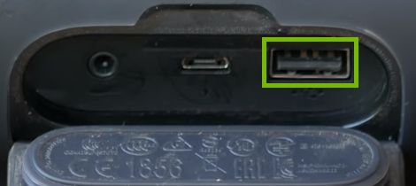 USB Type B port