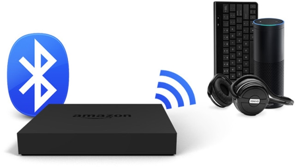 Fire TV communicating with Bluetooth devices.