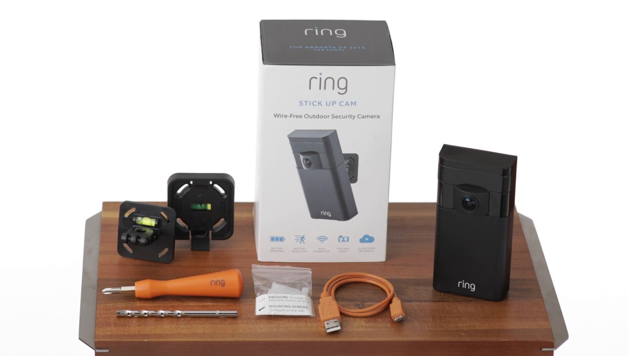Unboxed Ring camera.