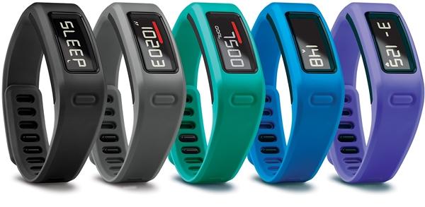 Assorted Garmin Vivofit devices.