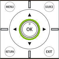 Element Remote OK Button. Illustration