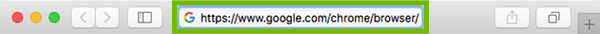 Browser address bar with address filled in.