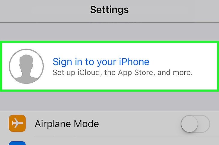 iOS Sign in to your device. Screenshot