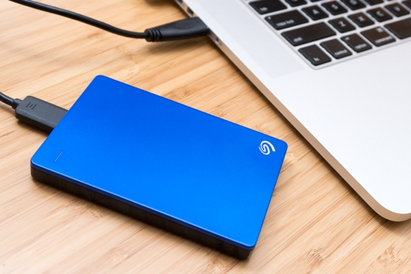 Portable external hard drive.