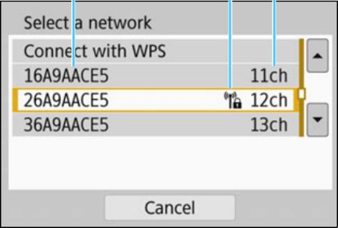 Wireless network list