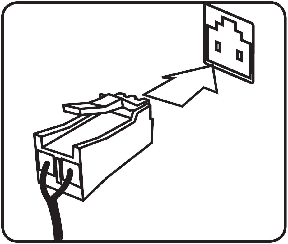 Illustration of how to plug in the sub woofer to the back of the receiver
