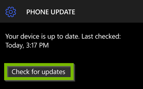 Windows Update menu with Check for Updates highlighted.