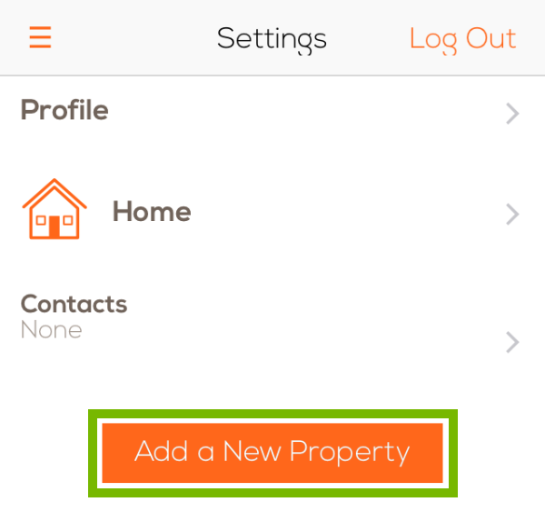 Add a New Property button highlighted