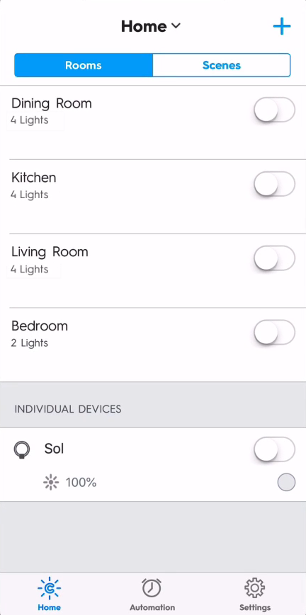 New group added to the room list in C by GE app.