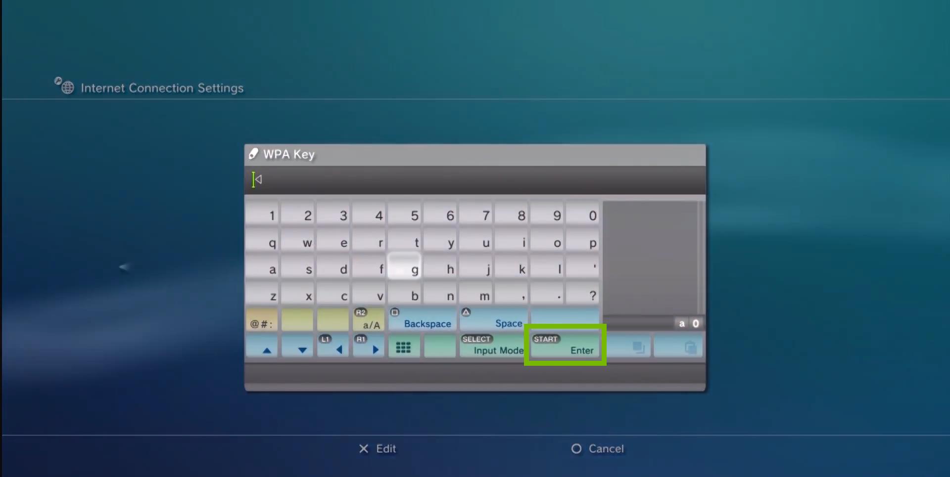 Virtual keyboard. Screenshot.