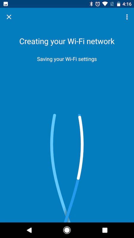 google wifi app waiting