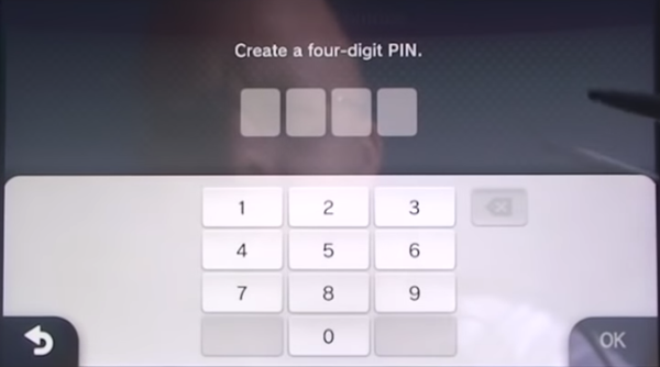 Creating the 4 digit pin
