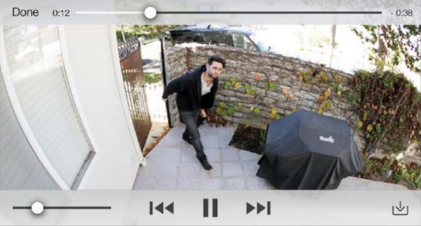 Phone screen showing video playback.