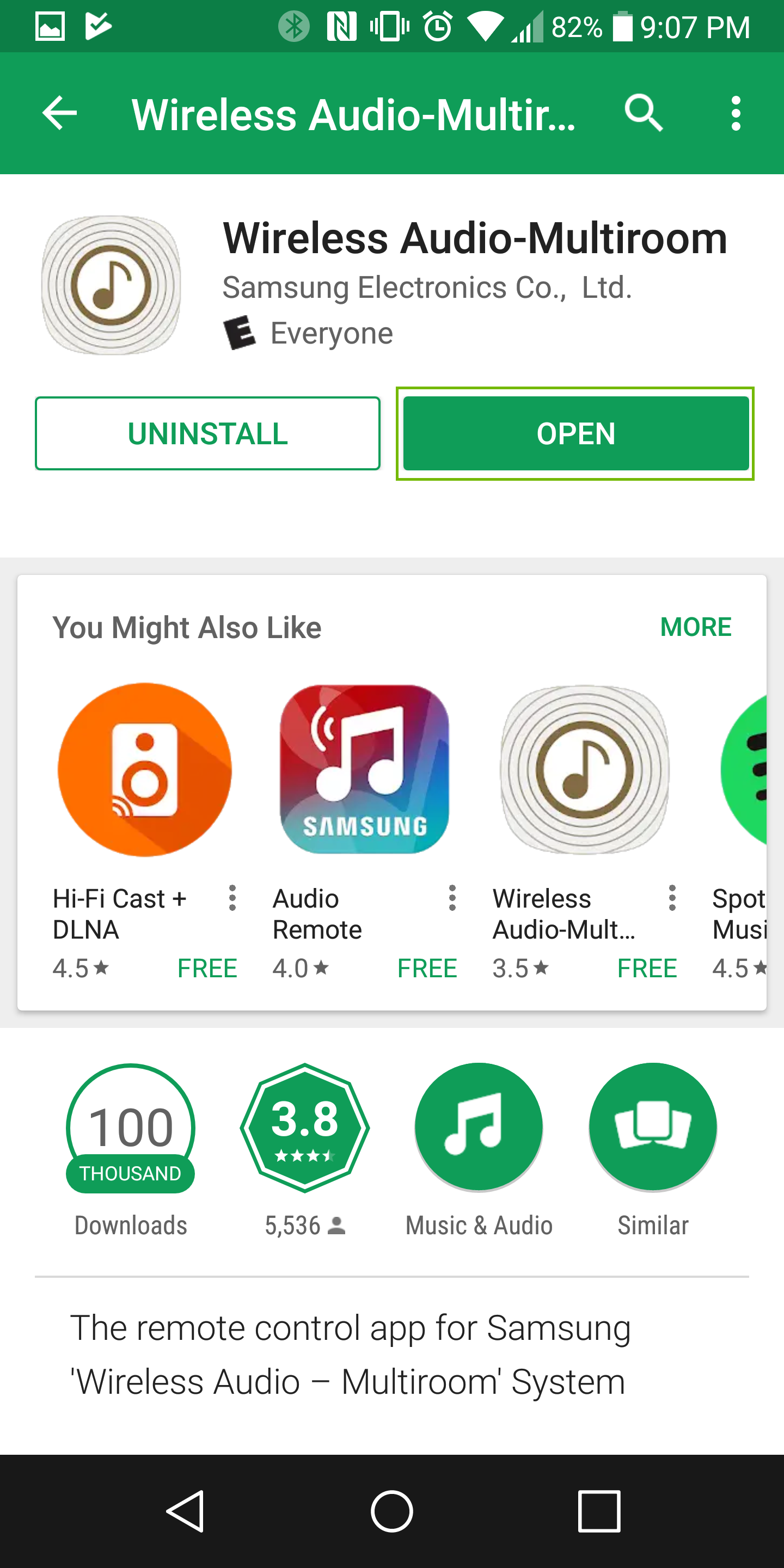app store page with open highlighted