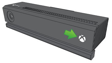 Bright Xbox logo pointed out on Kinect.
