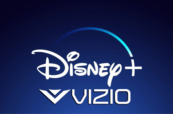 Disney+ and VIZIO logos.