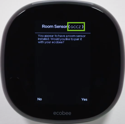 4-digit ID on the ecobee