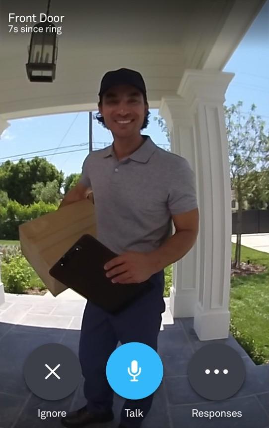 Nest Video Doorbell Feed.