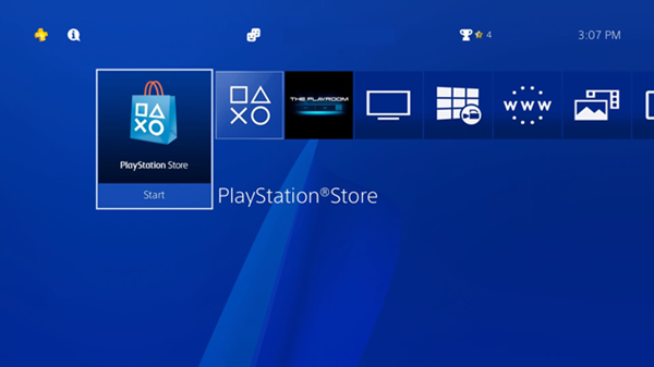 Playstation Store being opened