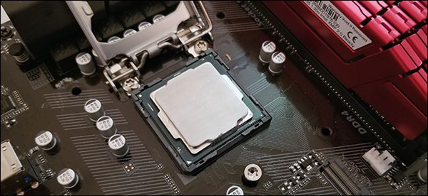 A new CPU in a motherboard