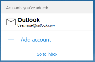 Windows mail final screen showing outlook