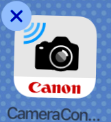 Canon Connect shaking icon