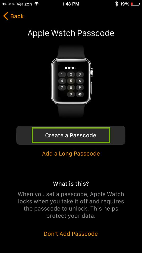 Create a passcode