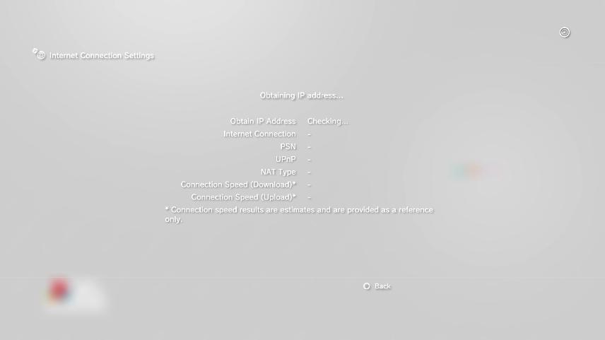 Connection test running. Screenshot.
