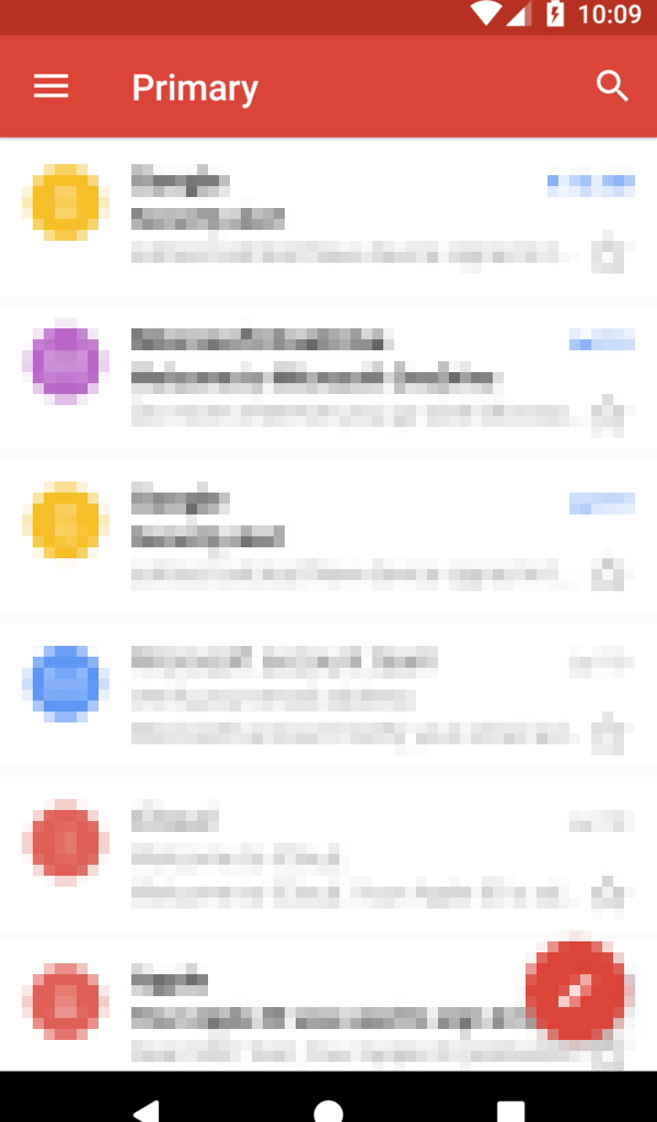 Mobile email client.