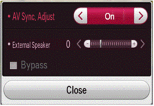 AV Sync adjust window.