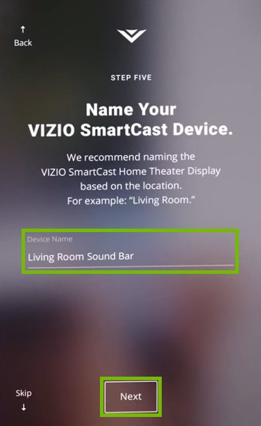 Naming the soundbar