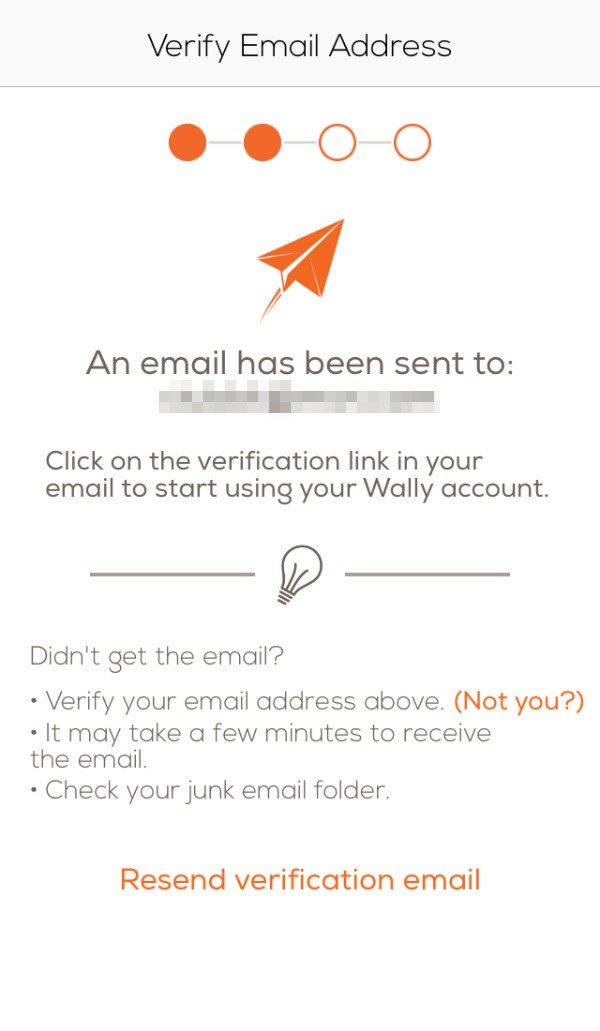 Email verification step