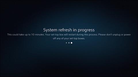 System refresh in progress