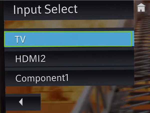 TV input selected