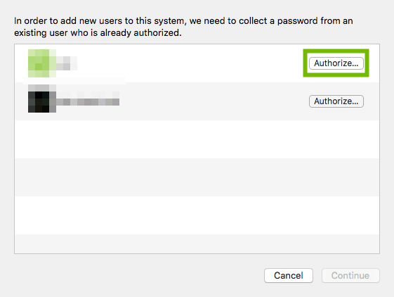 Authorization dialog with Authorize button highlighted.