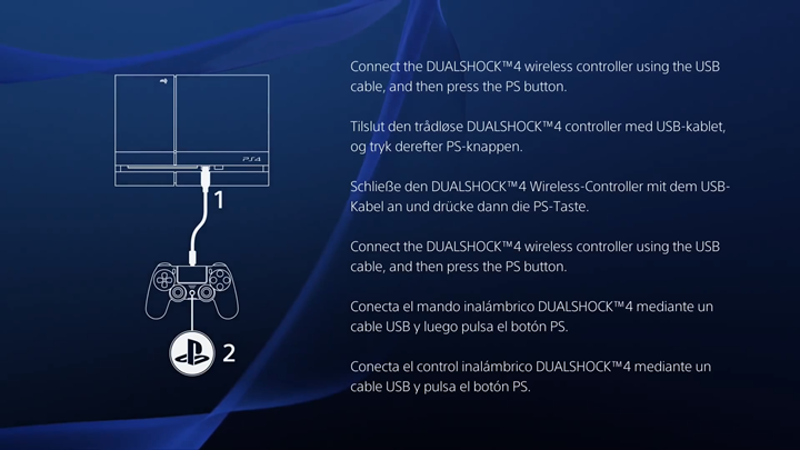 PlayStation 4 Controller activation screen.