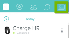 Account option selected. Screenshot.