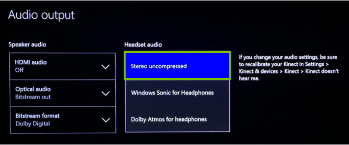 Stereo uncompressed. Screenshot.