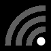 Wi-Fi symbol with 1 of 4 bars