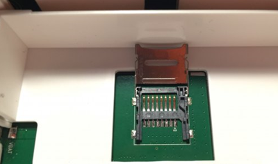 Open SD card slot