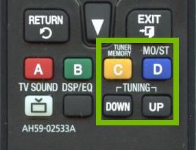 Radio controls on remote.