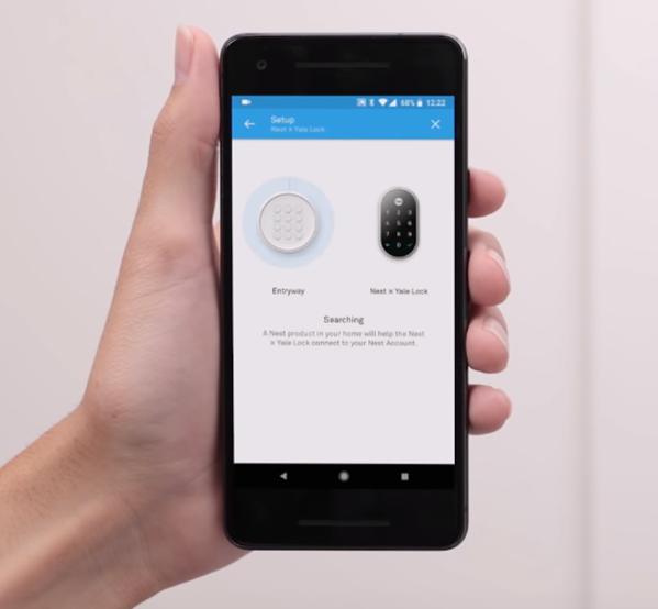 Nest app scanning for additional Nest products.