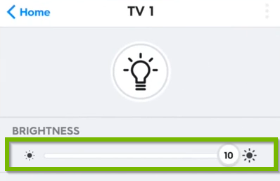 TV 1 bulb brightness dimmer.